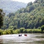 Canoeing on the New River. Photo courtesy Chamber of Commerce.