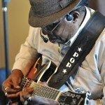 "Clyde ""Pop"" Ferguson Sr. plays and sings the blues at Sister Futs Cafe in Lenoir."