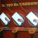 Interactive exhibit lets visitors play different banjo styles. Photo courtesy of Phillip Lane.