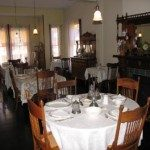 Boarding house dining room.