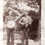 Earl and his brother Horace, on banjo and guitar.