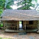 Settler's cabin at Hickory Ridge Living History Museum.