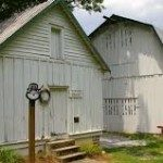 Farm outbuildings. Photo courtesy RomanticAsheville.com