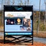 Interpretive sign at mint site