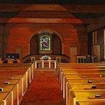 Painting of the historic Bethel Presbyterian Church sanctuary.Gary Woolard, artist; John Rolland, photographer.