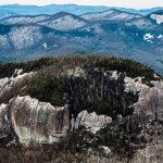 Looking Glass Rock in winter with sheen of ice.  Photo © 2013 David Oppenheimer – Performance Impressions LLC.