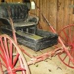 One of several carriages in barn museum.