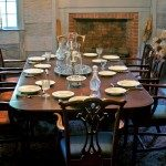 Dining table in Carson House.