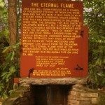 Plaque explaining the importance of the Eternal Flame.