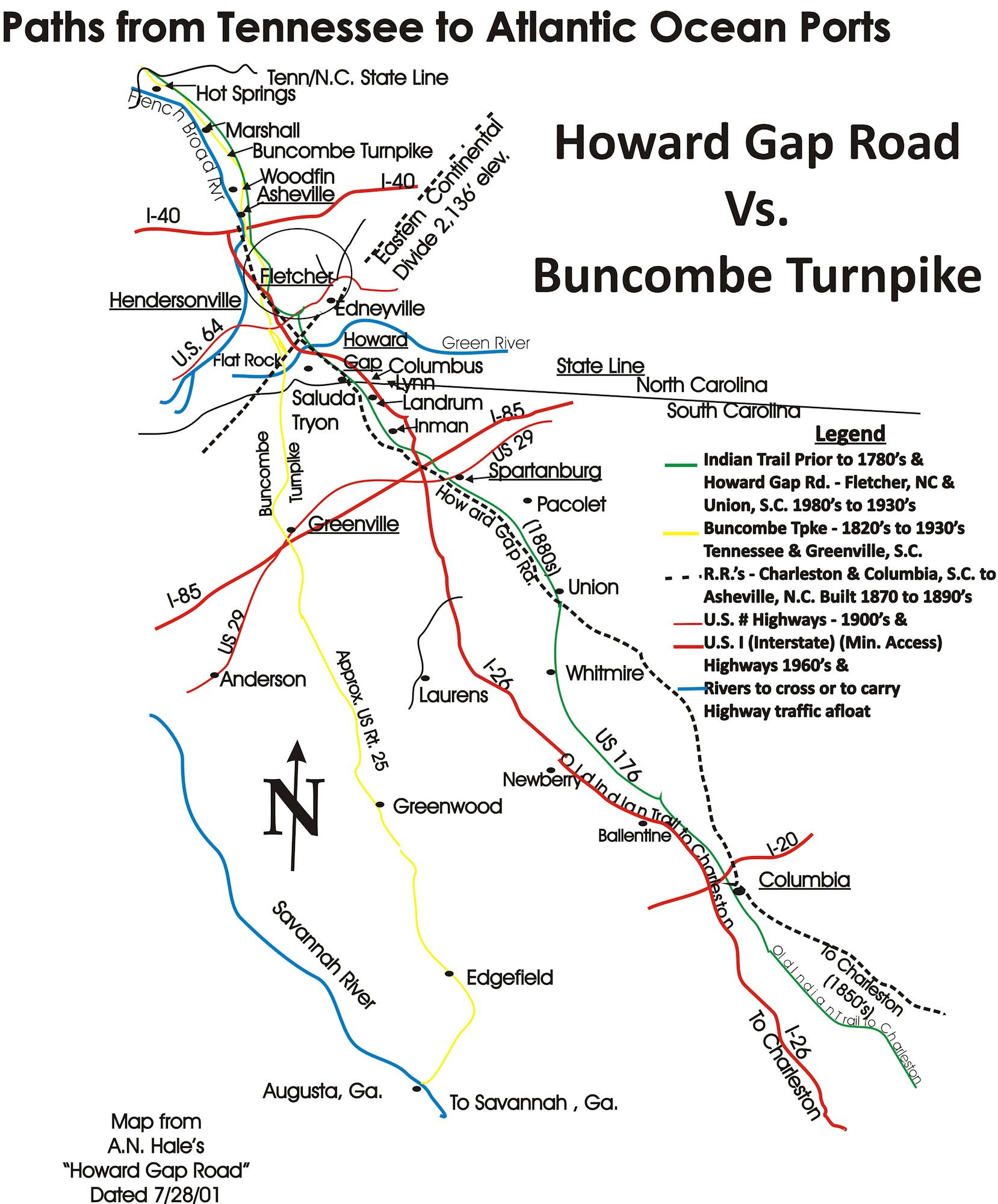 History Of Howard Gap Road Fletcher NC Blue Ridge Heritage Trail - Road map of north and south carolina