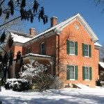 Johnson House in winter.