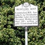 Historical Marker at Bechtler's Mint