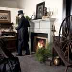 Interior view of Bostic Lincoln Center museum with period costuming. Credit Stewart O'Shields