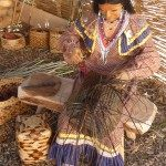 Mannequin of Cherokee basket maker.