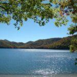 Nantahala Lake in fall.