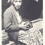 Cherokee basket maker Nancy Bradley, from a W.M. Cline postcard ca. 1937. Someclaim that Nancy was one of onlytwobasketweaverswhokept the Cherokeedoubleweavetraditionalive.Image used with permission of Hunter Library Special Collections, Western Carolina University.