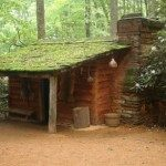 Rep;lica of a typical Cherokee home.
