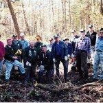 Volunteers created trails. Photo credit:  Rimas Zailskas