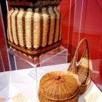 Baskets from Qualla exhibit.