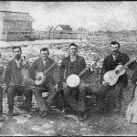 Swannanoa String Band, ca. 1894.  Fiddles, banjos, and bass have long been the backbone of the music played in the North Carolinamountains and foothills.  Photo from the Swannanoa Valley Museum.