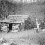Typical Cherokee farmstead. Photo from Smithsonian Archives.