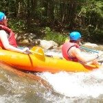 Whitewater kayaking on the Green River.