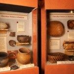 Exhibit: Cherokee pottery and baskets.