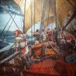 Exhibit: Painting of Cherokee on board ship going to England.