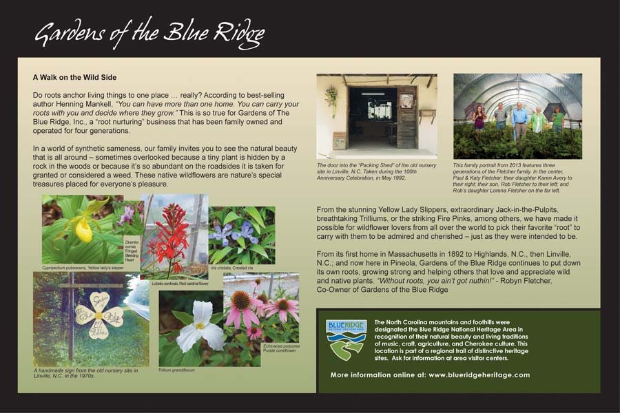 Gardens of the Blue Ridge Sign