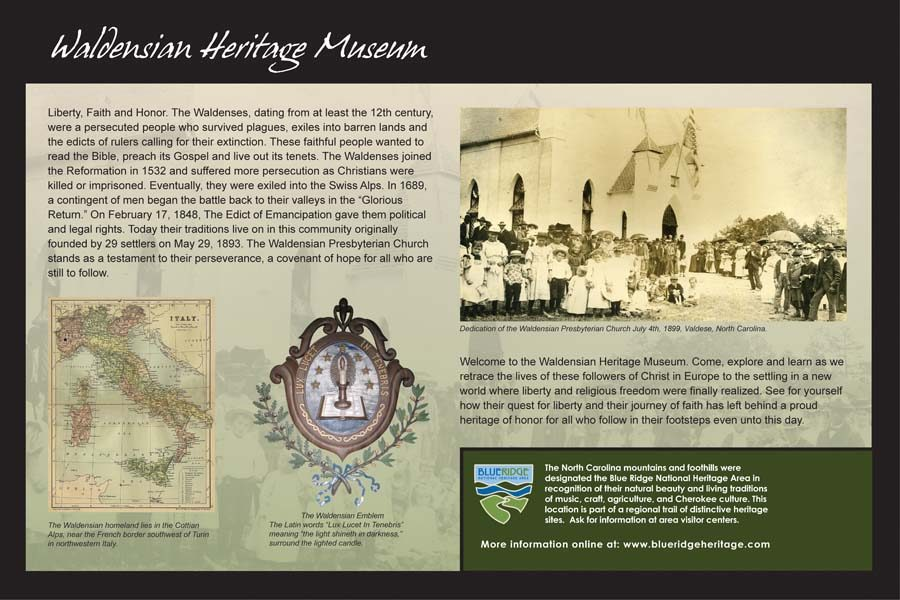 Waldesian Heritage Museum Sign