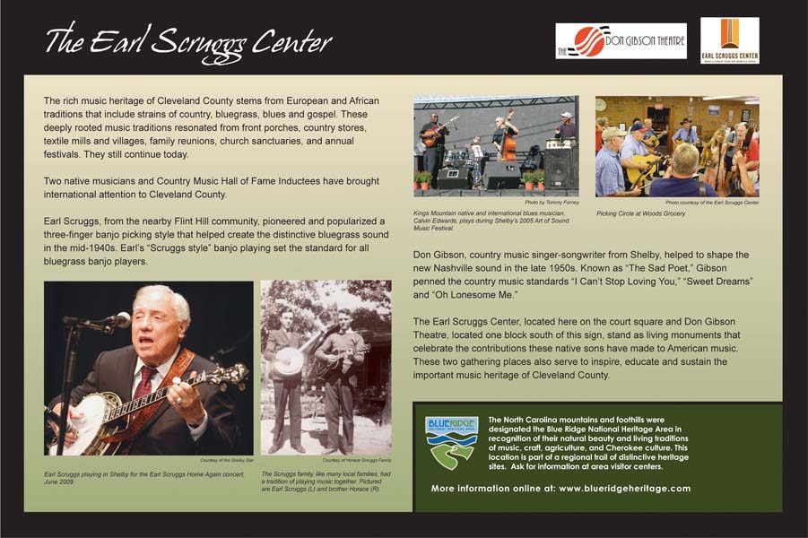 Earl Scruggs Center Sign