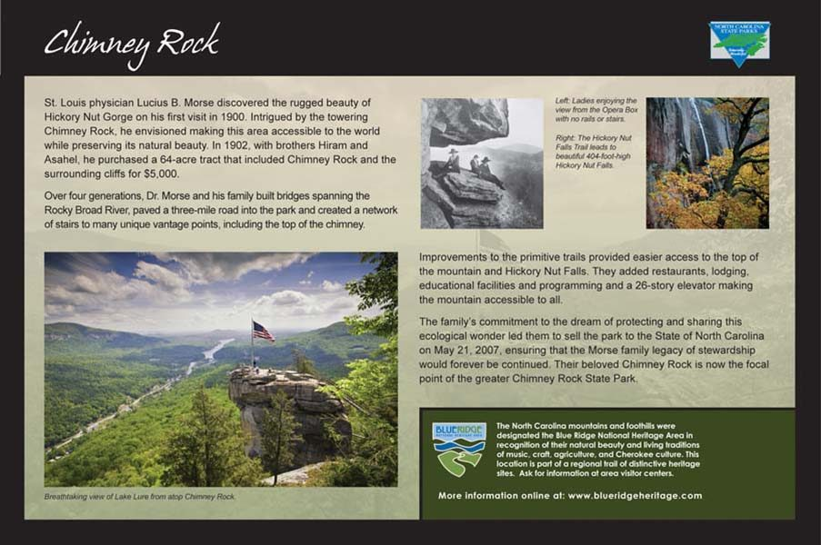 Chimney Rock Sign