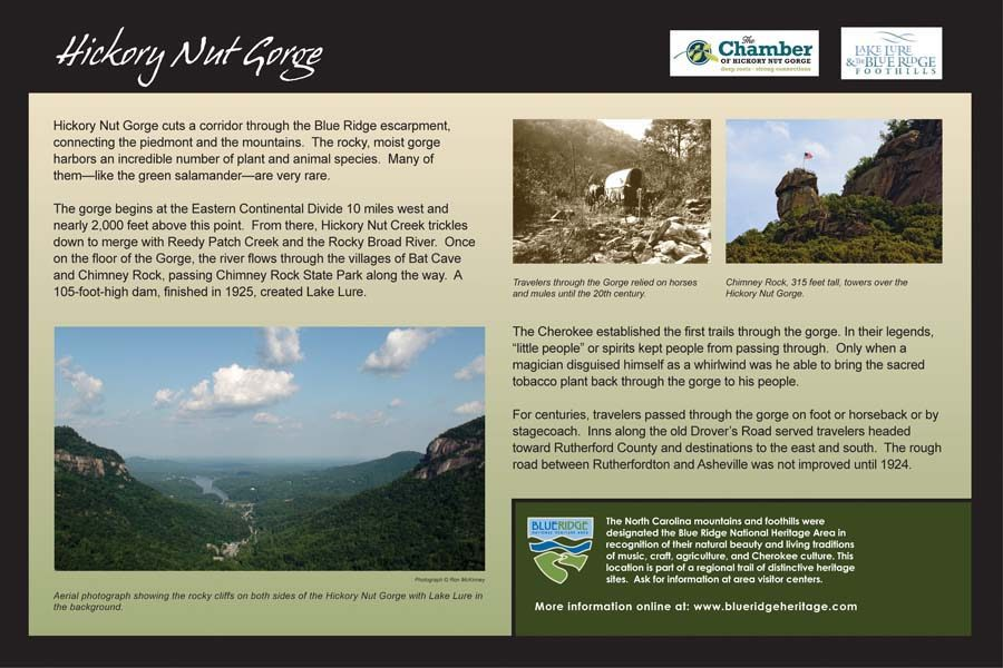 Hickory Nut Gorge Sign