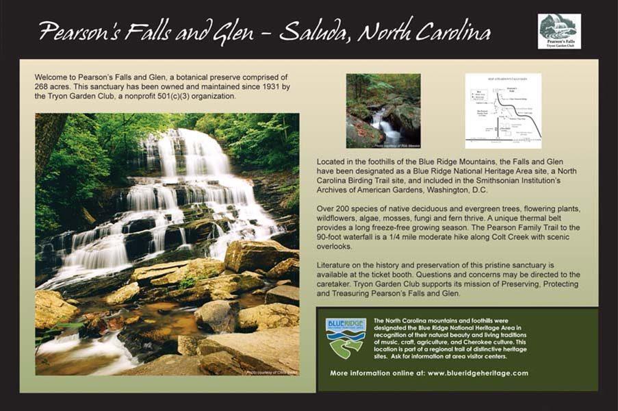 Pearson's Falls Sign