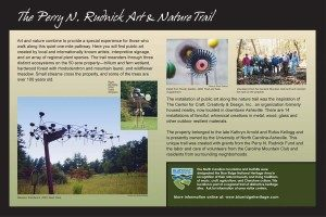 Perry N. Rudnick Art and Nature Trail Sign