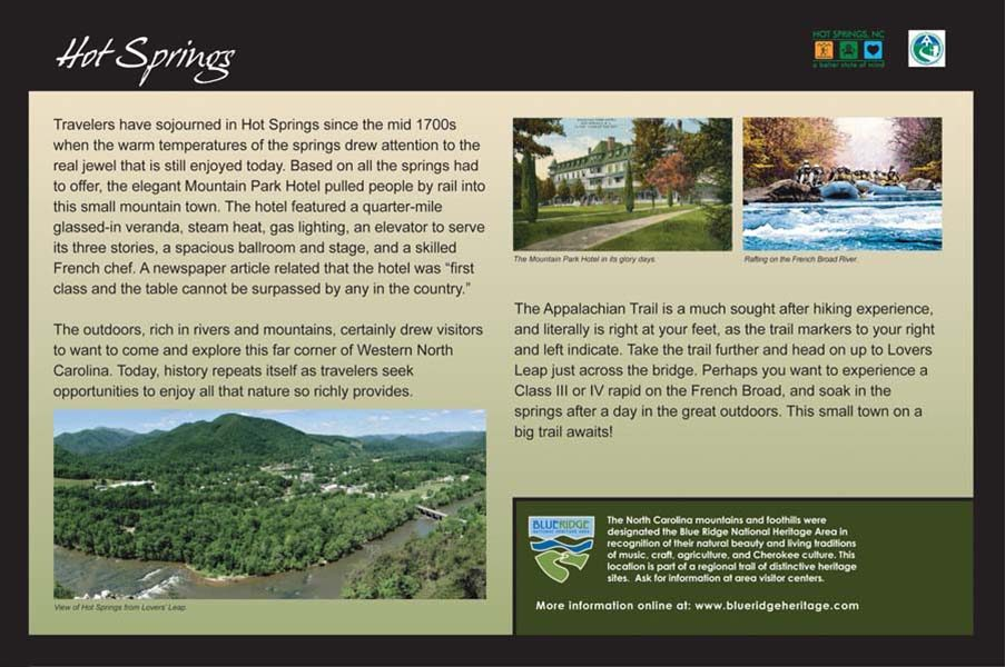 Hot Springs Appalachian Trail Sign