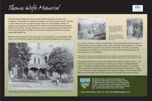 Thomas Wolfe Memorial Sign