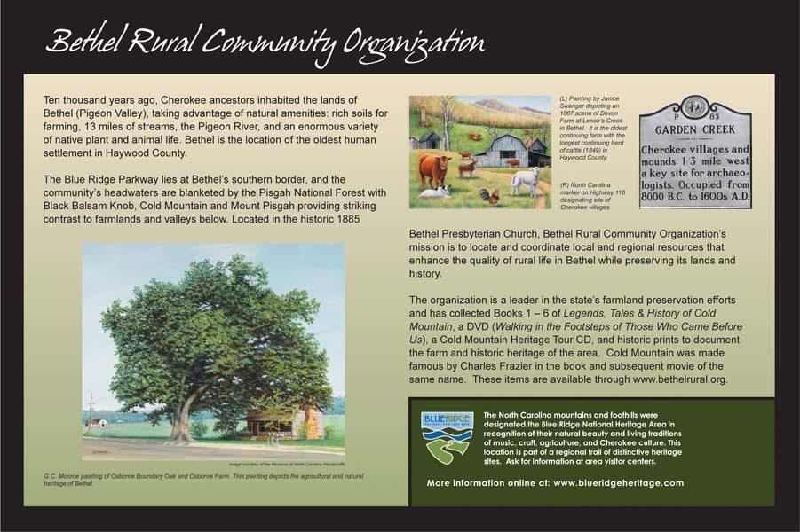Bethel Rural Community Sign