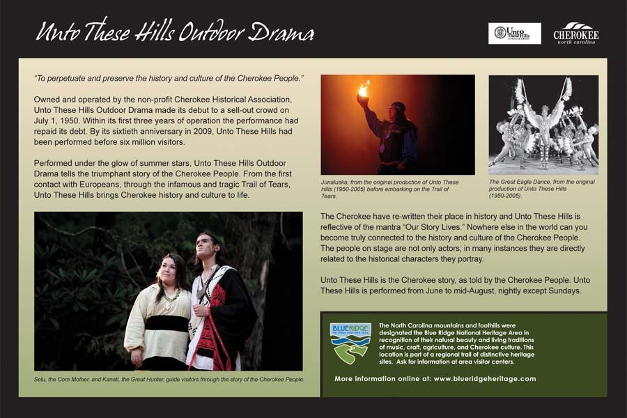 Unto These Hills Outdoor Drama Sign