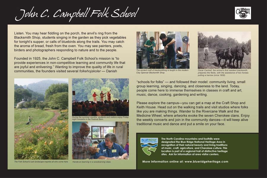 John C. Campbell Folk School Sign