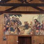 Fresco in Sloop Chapel.