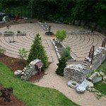 Labyrinth on grounds nearby.