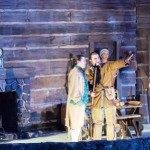 Daniel Boone describes the land beyond the last mountain peak at Horn in the West outdoor drama.