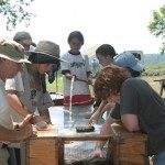 Field school students at work.