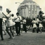 The Montreat Smooth Dancers perform during Shindig on the Green at City County Plaza, c. 1960. [shin002],D.H. Ramsey Library Special Collections, UNC Asheville 28804.