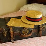 Wolfe's suitcase and hat.