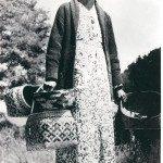 Basket weaver, Nancy Bradley. Qualla Arts and Crafts Mutual, Inc.; photograph by W.M. Cline.