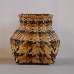 Rivercane double weave storage basket by Nancy Bradley. Qualla Arts and Crafts Mutual, Inc.