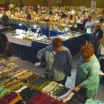 At one of three gem shows held annually in Franklin. Photo by Linda Mathias