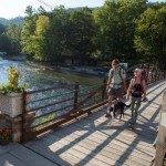 The Appalachian Trail crosses over the Nantahala River in the heart of campus. It's the perfect place to cheer on through-hikers and hear their amazing stories as they stop to refuel at River's End Restaurant or gear up at the Outfitter's Store.